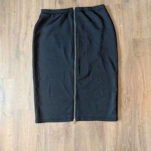 Black luxury pencil skirt